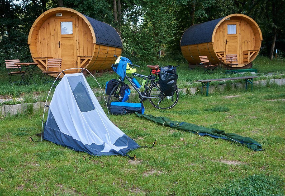 Zeltabbau am Campingplatz bei Deutschen Eck
