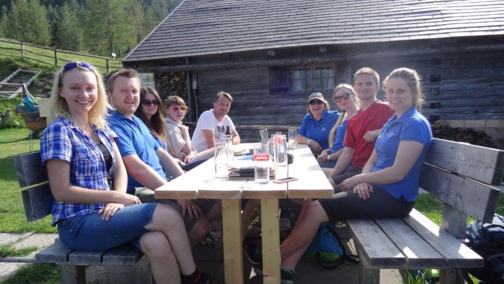 outdoorer Team auf der Lärchenhütte